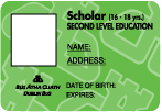 Scholar photo ID card