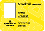 Schoolchild photo ID card