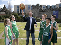 Liffey Celtics Basketball Club with Niall Quinn