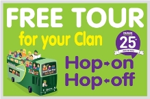 Hop on Hop off Free tour for your clan