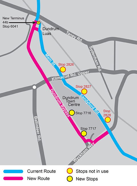 Route 44 and 44b map