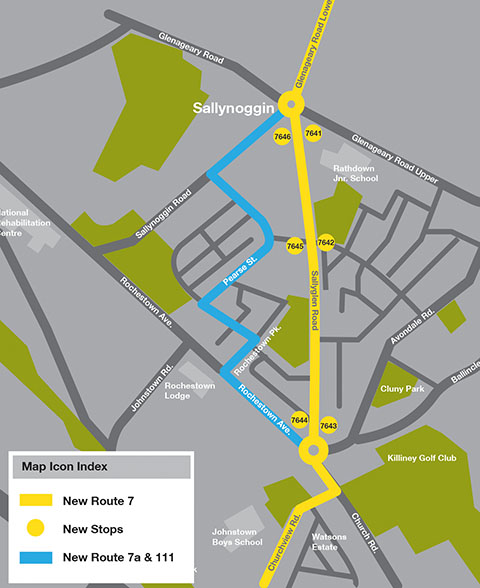 Changes to Route 7 and Introduction of Route 7a - Dublin Bus