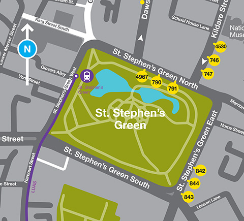 St. Stephen's Green Map